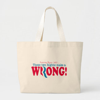 Romney Ryan Wrong Tote Bag