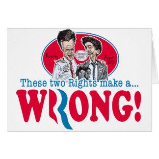 Romney Ryan Wrong Card