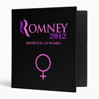 Romney & Ryan's Binder full of women
