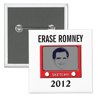 Romney Sketch Toy Pinback Button