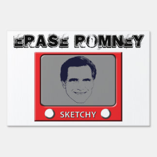 Romney Sketch Toy Lawn Sign