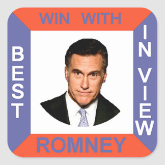 ROMNEY SQUARE STICKER