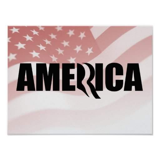 ROMNEY STANDS FOR AMERICA -.png Poster