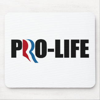 ROMNEY STANDS FOR PRO-LIFE png Mouse Pad