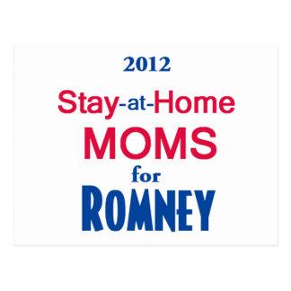 Romney Stay Home MOMS Postcard