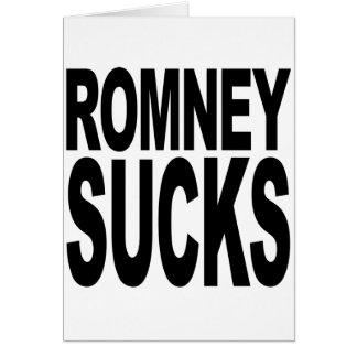 Romney Sucks Greeting Card