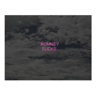 Romney Sucks. Postcard