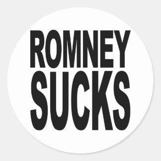 Romney Sucks Classic Round Sticker