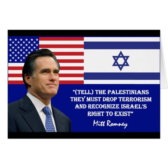 Romney Talks Israel Card