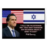 Romney Talks Israel Cards