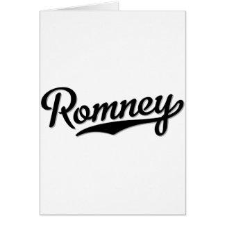 Romney Tarjeta De Felicitación