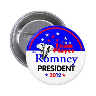 Romney Team Player Button