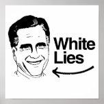 ROMNEY TELLS WHITE LIES POSTERS