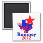 Romney TEXAS 2 Inch Square Magnet