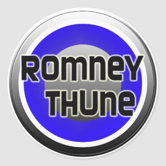 Romney Thune 2012 Etiqueta Redonda
