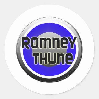 Romney Thune 2012 Pegatina Redonda