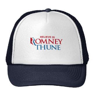 ROMNEY THUNE VP BELIEVE png Trucker Hat