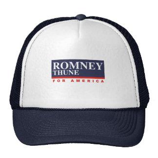 ROMNEY THUNE VP FOR AMERICA png Mesh Hats
