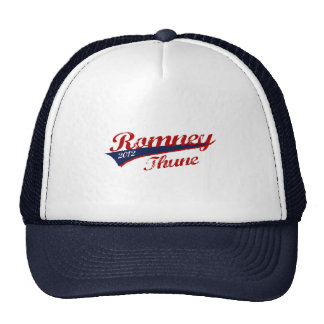ROMNEY THUNE VP STRIPE TEAM png Mesh Hat