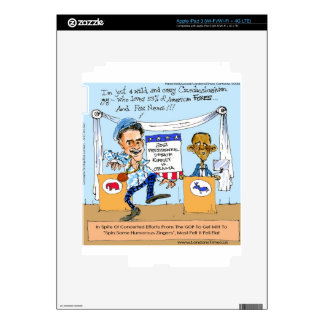 Romney Tries Zingers on Obama Funny Gifts & Cards iPad 3 Skin