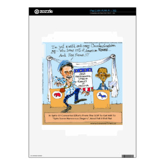 Romney Tries Zingers on Obama Funny Gifts & Cards Decals For The iPad 2