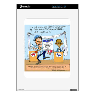 Romney Tries Zingers on Obama Funny Gifts & Cards Skin For The iPad