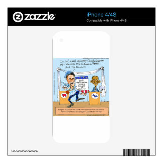 Romney Tries Zingers on Obama Funny Gifts & Cards Skin For The iPhone 4S