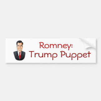 Romney Trump Puppet Bumper Sticker Car Bumper Sticker