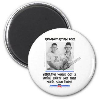 romney tshirt.jpg de Ryan de la red de seguridad s Imán Para Frigorífico