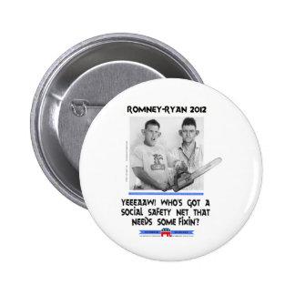 romney tshirt.jpg de Ryan de la red de seguridad s Pin