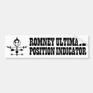 Romney Ultimate Position Indicator Car Bumper Sticker