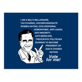 Romney Vote for Me.png Postcard