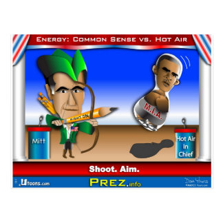 Romney vs Hot Air Postcard