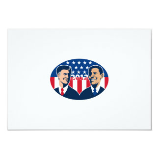 Romney Vs Obama American Elections 2012 3.5x5 Paper Invitation Card