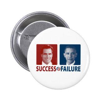 Romney Vs. Obama - Success Vs. Failure Buttons