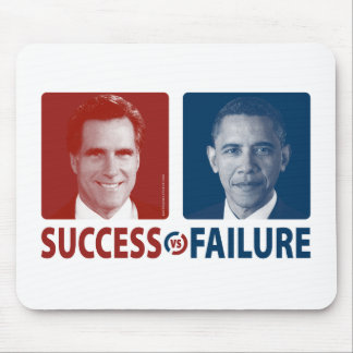 Romney Vs. Obama - Success Vs. Failure Mouse Pad