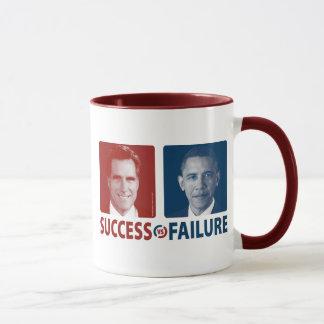 Romney Vs. Obama - Success Vs. Failure Mug