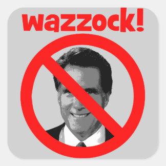 Romney wazzock square sticker