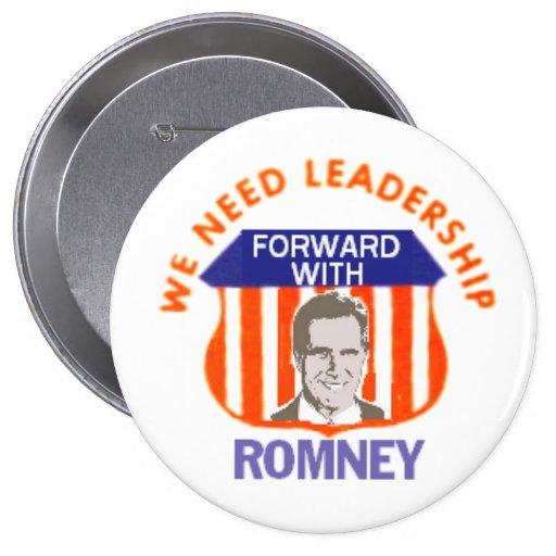ROMNEY We Need Leadership Button