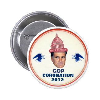 Romney wears the 2012 GOP Ccrown 2 Inch Round Button