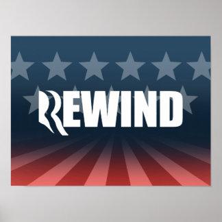 ROMNEY WILL REWIND.png Print