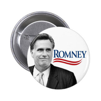 Romney with black and white photo pin