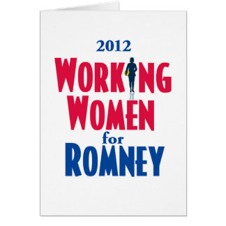 Romney WORKING WOMEN Card