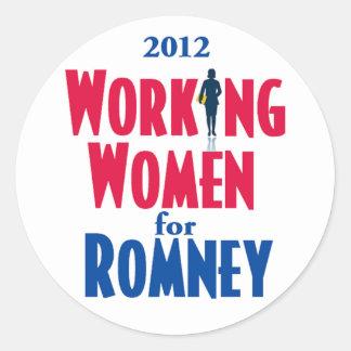 Romney WORKING WOMEN Classic Round Sticker