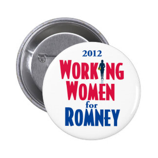 Romney WORKING WOMEN Pinback Button