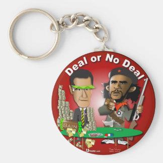 Romney y Che Obama Llavero Redondo Tipo Pin