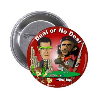 Romney y Che Obama Pin Redondo De 2 Pulgadas