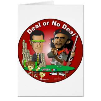 Romney y Che Obama Tarjeta De Felicitación