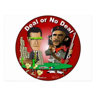 Romney y Che Obama Postal