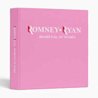 Romney y la carpeta de Ryan por completo de mujere